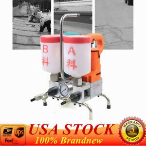 Electric Epoxy Injection Piston Pump Grouting Steel Machine High Efficiency1 5kw