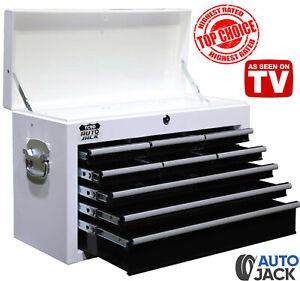 Autojack 9 Drawer Metal Tool Cabinet Top Box Lockable Storage Chest For Rollcab