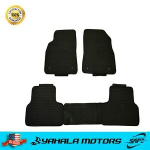 Black Floor Mats For 2012 2015 Chevy Cruze All Weather Rubber