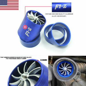 Double Air Intake Turbine T urbo Super Charger Gas Fuel Saver Fan Charger C7w8