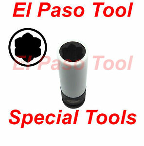 Baum Tools 17mm flower Shaped Long Lug Nut Impact Socket For Mercedes