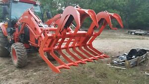 60 Or 72 Skid Steer tractor Grapple quick Attach standard Duty Will Not Ship