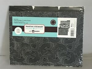 Martha Stewart Home Office With Avery 6 Letter size Folders 3 Tab 3 Patterns