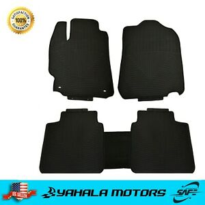 Black Floor Mats Set For Toyota 2012 2017 Camry Rubber All Weather