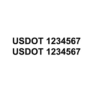 Set Of 2 Custom Usdot Us Dot Number Tractor Truck Semi Decal Sticker Graphic