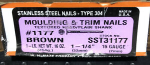 1 1 4 Trim Nails Stainless Steel Brown Finish Nails 1lb Box Stronghold