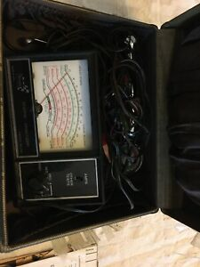 Vintage Sears Engine Analyzer Model 161 2161 W Box For 12v Ignition Systems