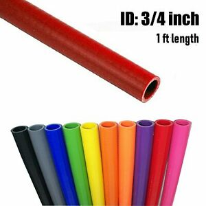Id 3 4 Silicone Heater Hose Radiator Coolant 75 19mm 1feet Length 3 Ply Red