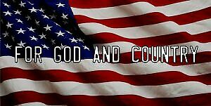 For God And Country On American Flag Photo License Plate