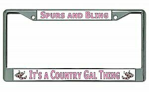 It s A Country Gal Thing Chrome License Plate Frame