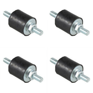 4pcs Anti vibration Rubber Isolator Mounts With Studs Shock Absorber M8 1 25