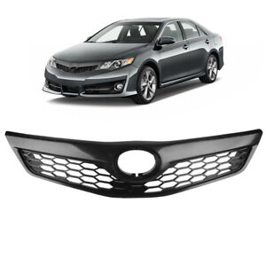 For Toyota Camry 2012 2013 2014 Se Xse Front Upper Grille Grill Matte Black Abs