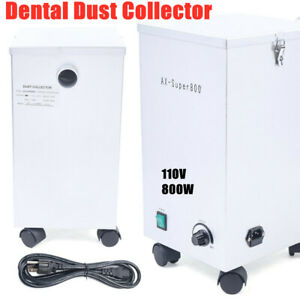 Dental Mobile Dust Collector Lab Vacuum Cleaner Extractor For Dust Removal 110v