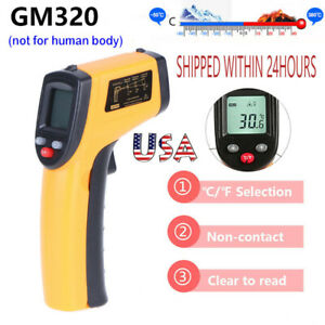 Lcd Ir Laser Industrial Thermometer Non contact Pyrometer Digital Thermometer Us