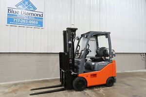 2016 Toyota 8fgcu15 3 000 Cushion Tire Forklift Lpg Fuel 3 Stage Sideshift