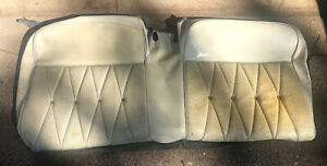 1964 Cadillac Convertible Rear Seat Covers White
