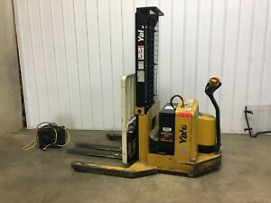 Yale Lift Truck Stacker Walk Behind Forklift With Charger