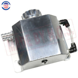 Universal Polished 1 Liter Coolant Radiator Overflow Recovery Water Tank Bottle