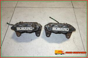 Jdm Subaru Impreza Wrx Sti Legacy Forester Front 4 Pot Piston Brake Calipers Red