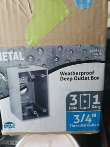 Bell 5386 0 Weatherproof Box 3 4 In Outlet Hub 3 Inlet Holes 4 Boxes Lot
