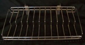 Store Display Fixtures 3 Chrome Wire Shelves For Wall Standards 15 Wide 2 Tier