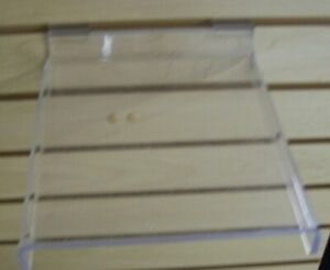 Store Display Fixtures Heavy Duty Acrylic Slatwall Shelf 8 75 Long X 8 Wide