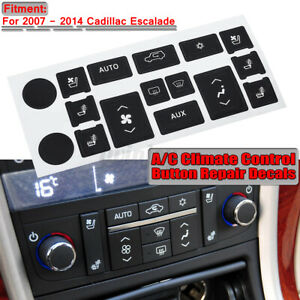 A c Heat Climate Control Button Repair Decals For Cadillac Escalade