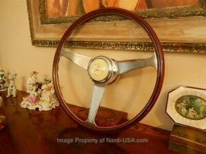 Mercedes W113 230 Sl Steering Wheel Nardi Wood 42 Cm Gullwing Horn Button New