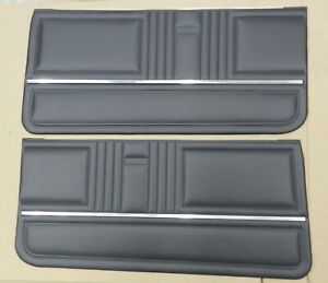 1967 Camaro Rs Standard Front Assembled Door Panels Pui Black In Stk Pd200
