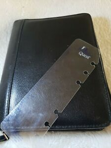 Franklin Qwest Covey Compact Top grain Cowhide Leather Planner Organizer Fc co2