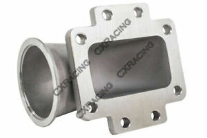 3 Vband T6 Turbo Stainless Steel 90 Degree Elbow Adapter Flange