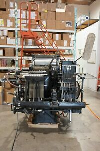 Heidelberg Windmill 13 X 18 Printing Press