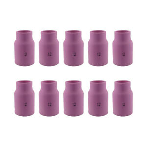 10 pk 53n87 12 3 4 Large Ceramic Gas Lens Cup Nozzle For Tig Welding Torch