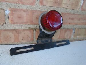 Vintage Nu Ray Tiger Ey License Plate Light Brake Light With Do Ray 1085 License