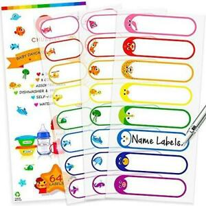 Baby Bottle Labels For Daycare Self laminating Waterproof Write on Name
