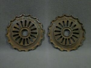 2 Vintage Plate Gears 1979 a International Harvester Ihc Seed Planter Ih Farm