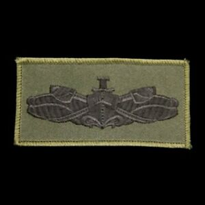 SURFACE WARFARE TACTICAL OD GREEN TAB PATCH US NAVY STRENGTH HONOR PIN UP SWORDS $12.84