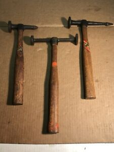 Lot Of 3vintage Fairmount Auto Body Hammers 151g 158g 164g