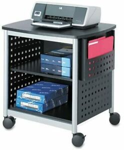 Safco Products Scoot Desk Side Printer Stand 1856bl Black 200 Lbs Cap