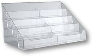 T z Tagz Brand Clear Acrylic 8 Pocket Countertop Business Card Holder