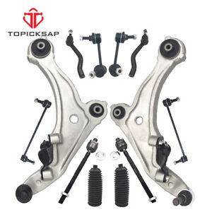 For 2009 2014 Maxima Front Lower Control Arm Outer Tierod Sway Bar Link 12pc Kit