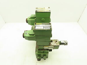 Parker D1vw d3w Hydraulic Directional Flow Control Solenoid Valve Stack Green
