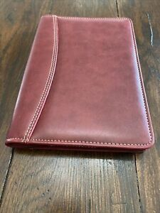 Preowned Franklin Covey Red Binder Planner Cover No Rings Euc