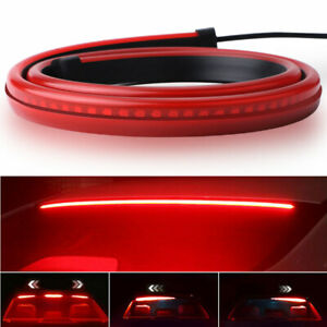 Led 35in Light High Third Brake Above Windshield Tail Stop Strip Turn Signal Bar