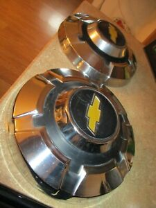 Pair Of 1969 1972 Chevy C20 3 4 Ton Truck 12 Dog Dish Hubcaps 69 70 71 72