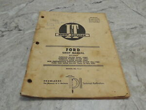 Ford Fo 21 It Tractor Repair Shop Manual Fordson Major Diesel Fmd Fpm Fsm 5000
