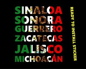 Michoacan Sticker Decal Car Truck Vinyl Graphics 15 Guerrero Sonora Jalisco