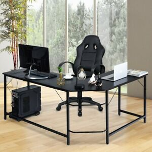 Corner Computer Desk L shaped Pc Table Workstation Home Office Study Furniture