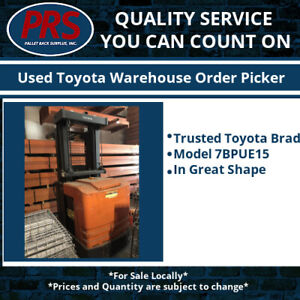 Used Toyota Warehouse Order Picker