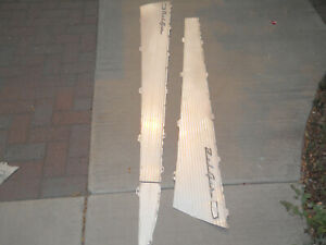 57 Chevy 4 Door Hardtop Side Panel Inserts used Partial Set